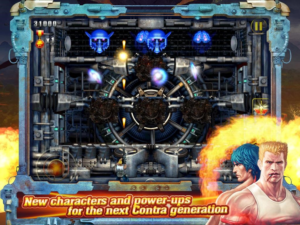 how to play contra game on android