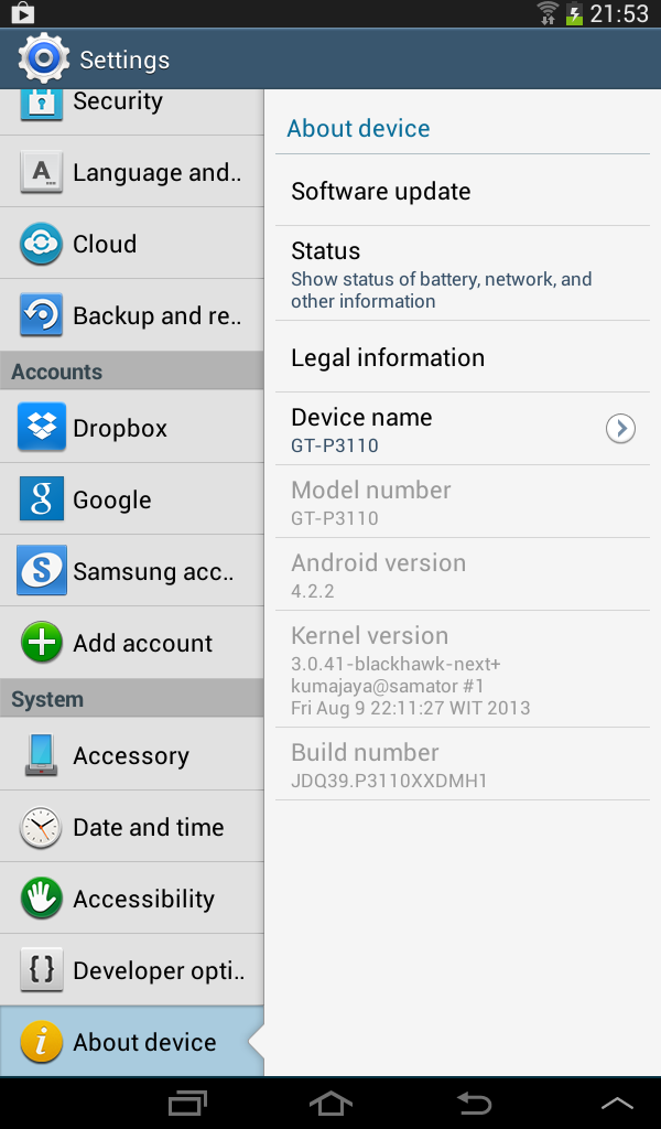Samsung 4 2 2 Tablet Updates: Galaxy Tab 2 7 0 WiFi (GT