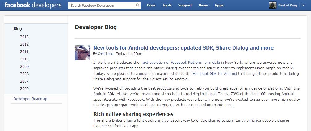 Facebook not updating 2010