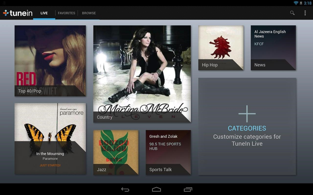 TuneIn Radio Updated With Android 4 3 Compatibility, Finally