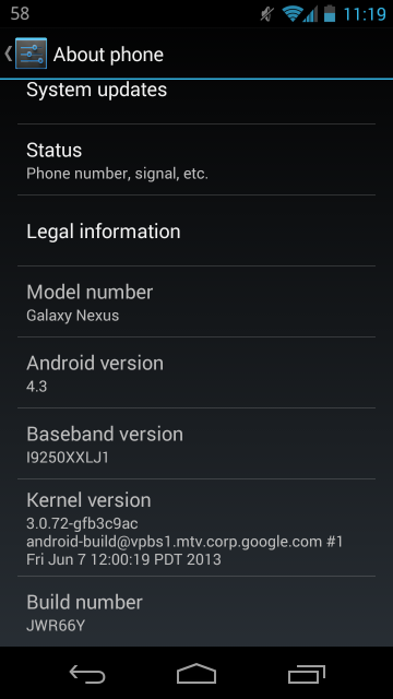 Galaxy Nexus Also Gets JWR66Y Firmware Update, Here's The ...