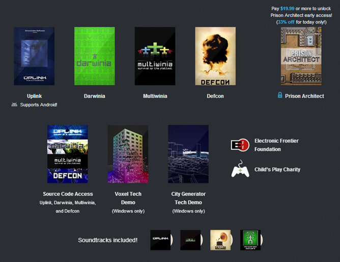 pay what you want introversion software humble weekly sale