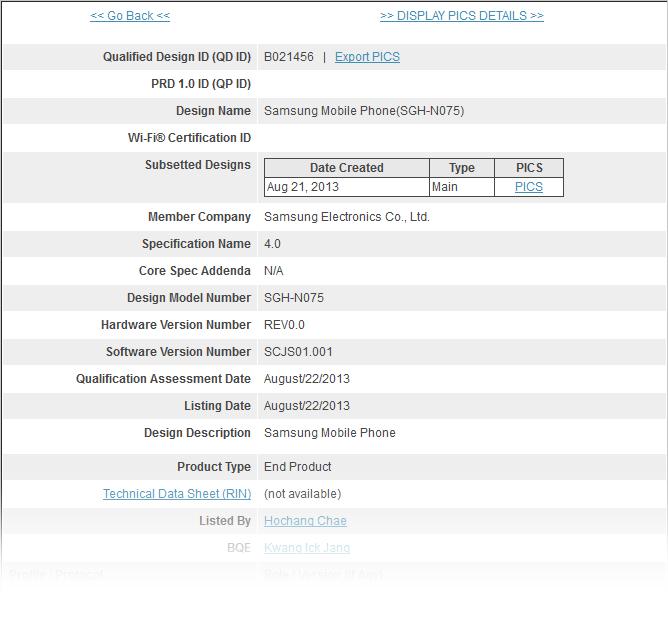 Samsung Galaxy Note III Passes Bluetooth SIG Certification
