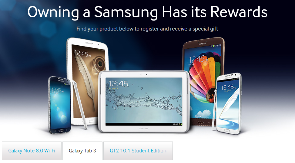 Samsung Adds New Perks For Galaxy Note 8.0, Tab 3, And Tab 2 10.1 Student Edition Buyers