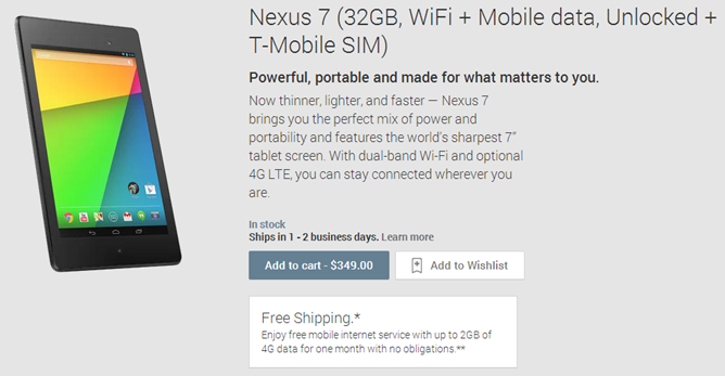 2013-09-09 16_57_06-Nexus 7 (32GB, WiFi   Mobile data, Unlocked   T-Mobile SIM) - Devices on Google