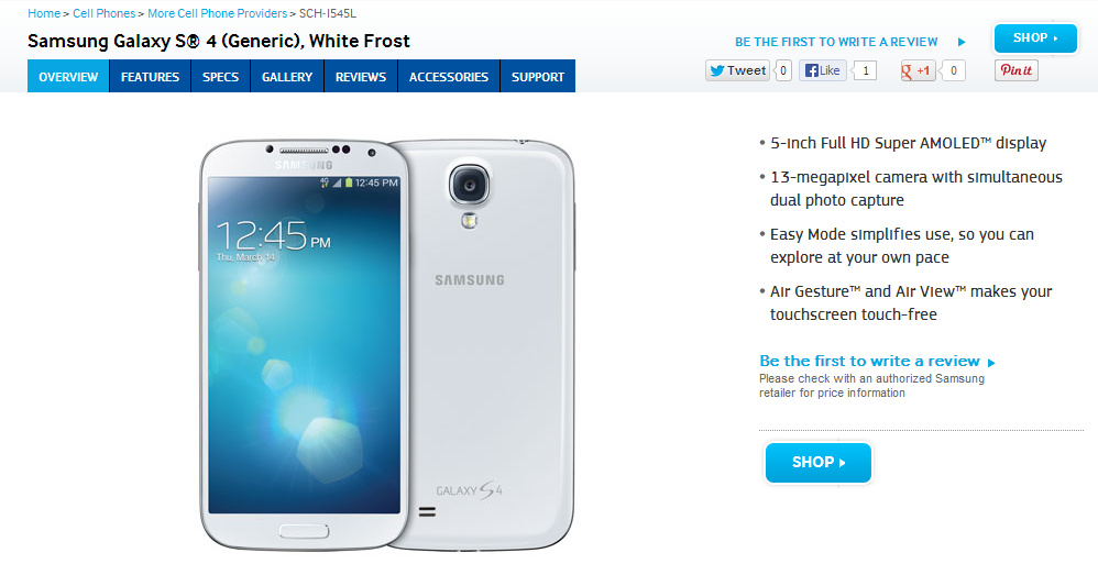 Mysterious Verizon Galaxy S4 Variant (SCH-I545L) Isn't A ...