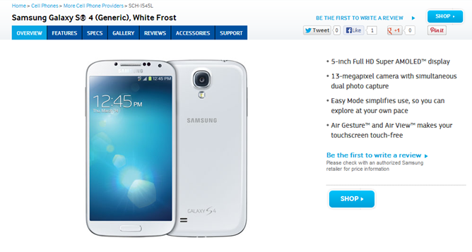 2013-09-10 16_03_39-Galaxy S4 Android Phone in White Generic - Air Gesture & 13MP Camera _ Samsung