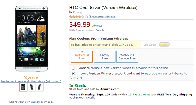 2013-09-17 08_49_04-Amazon.com_ HTC One, Silver (Verizon Wireless)_ Cell Phones & Accessories