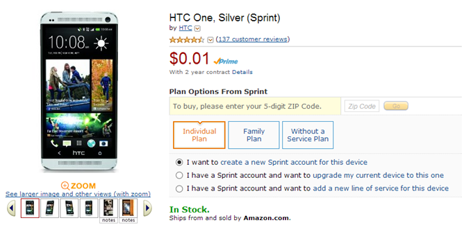 2013-09-23 13_18_54-Amazon.com_ HTC One, Silver (Sprint)_ Cell Phones & Accessories