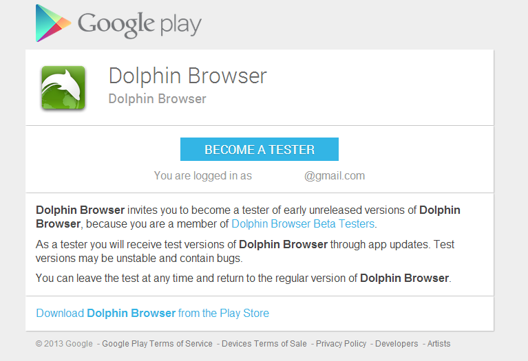 Dolphin Browser Begins Play Store Beta Program, Join Now To Gain Access To Early Updates