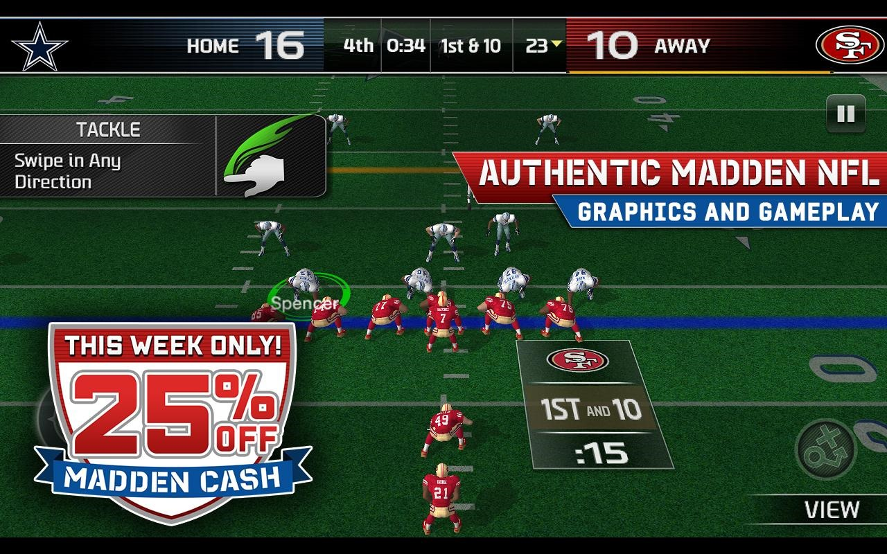 New Game Madden Nfl 25 Hits The Play Store Switches To