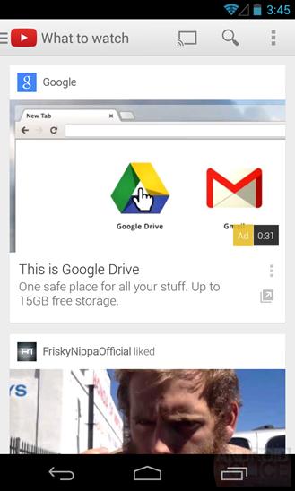youtube app advertisement