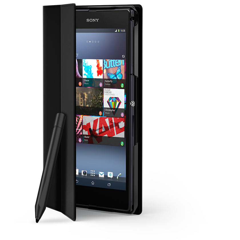 Sony Unveils The Cover Cp12 For Xperia Z Ultra Case Stand Extra Battery And More All In One Sleek Package