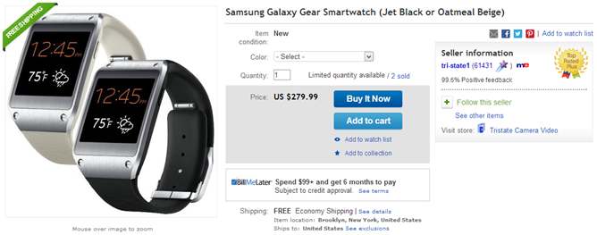 2013-10-28 10_25_59-Samsung Galaxy Gear Smartwatch Jet Black or Oatmeal Beige _ eBay