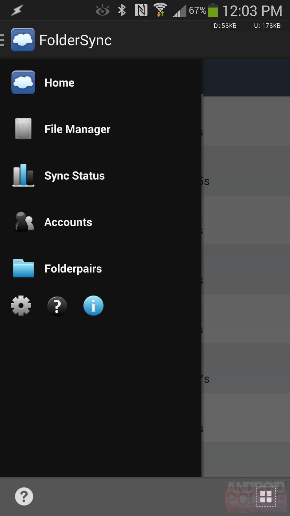 FolderSync Updated To v2.5 With Hamburger Navigation, New