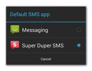 KitKat To Complete SMS API, Require Default Texting App And Limit All Others