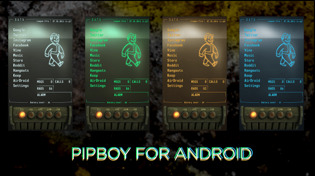 This fantastic fallout pipboy homescreen lets you party for Wallpaper home screen android