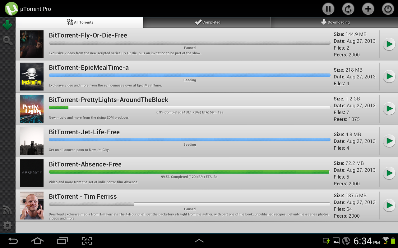 Phone Utorrent For Android Phone new app gets a premium ad free version of the android unnamed 13