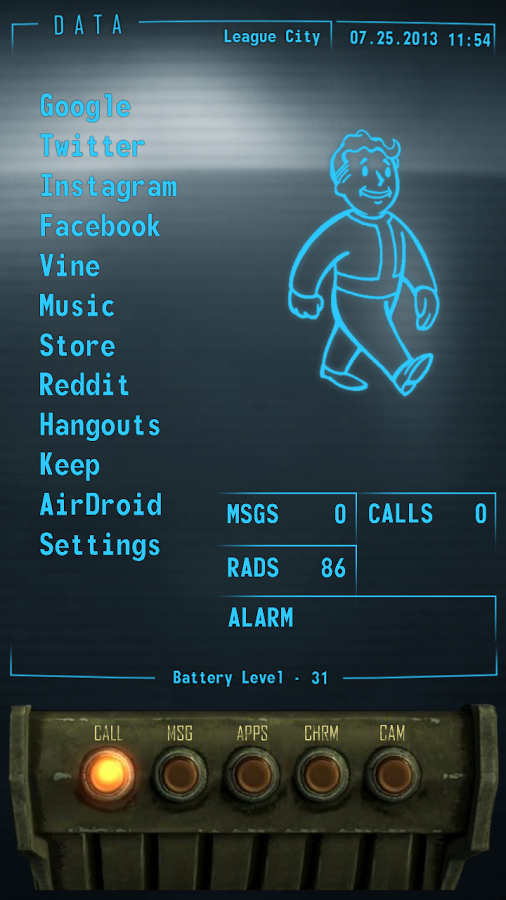 This Fantastic Fallout PipBoy Homescreen Lets You Party Like It's 2299