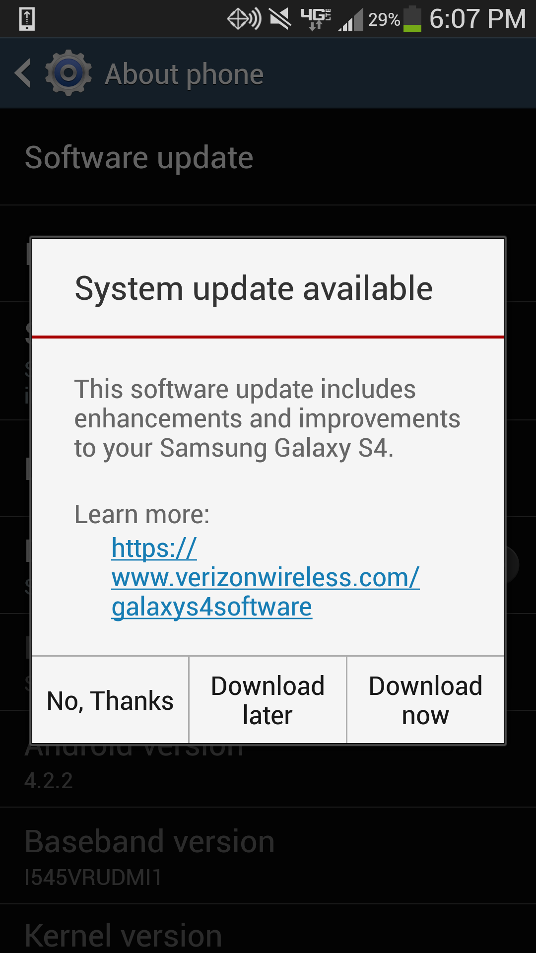 Samsung Has Added Details About The Upcoming I545VRUEMJ7 Software Update That Will Among Other Things Make Device Compatible With Galaxy Gear