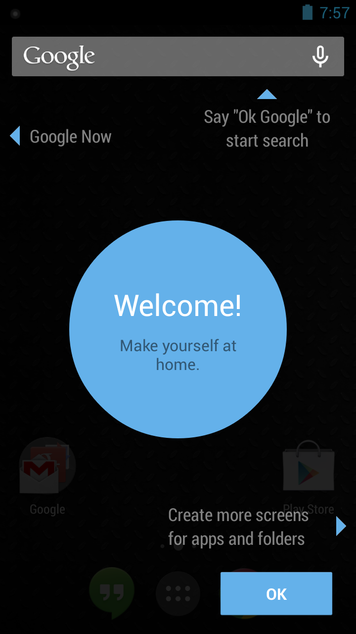 how to change to google launcher