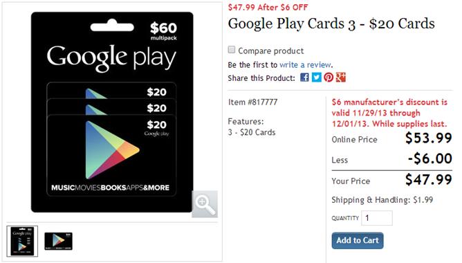 2013-11-29 13_10_15-Google Play Cards 3 - $20 Cards