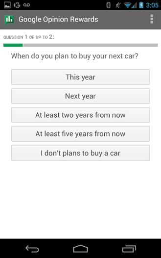 [New App] Google Opinion Rewards Pays Google Play Credit ...