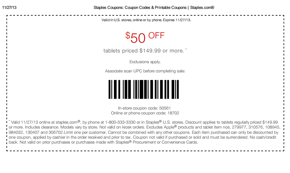 Staples coupons coupons