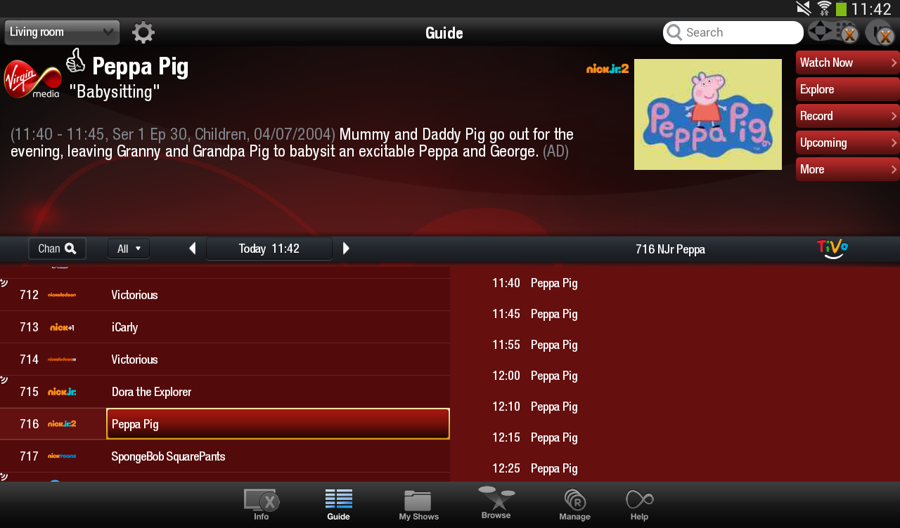 New App] Virgin Media Launches TV Anywhere Android App In