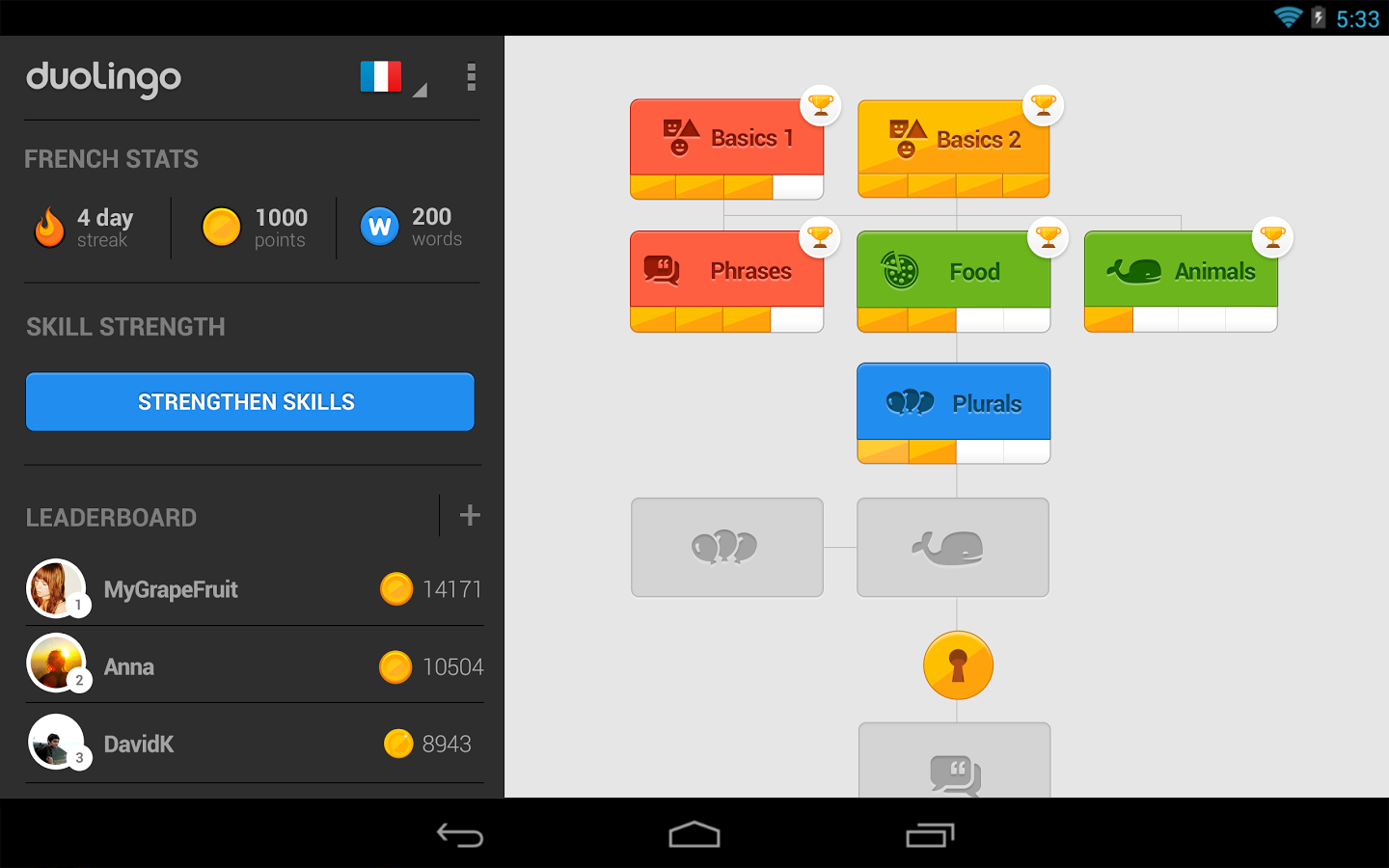 duolingo android app updated to 2 0 with an updated ui and a slimmed install size