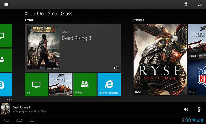 Microsoft Releases Xbox One SmartGlass Android App For The