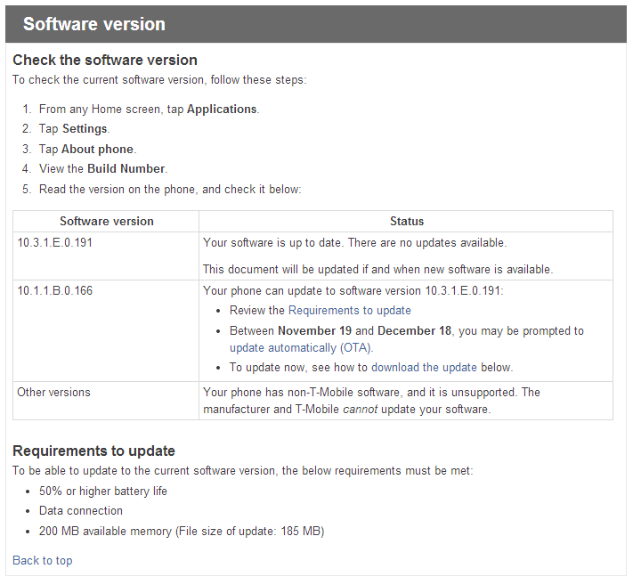 T-Mobile's Sony Xperia Z Gets An Overdue Android 4 2 OTA Update