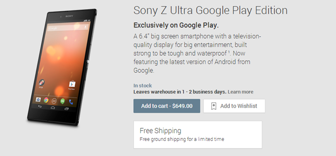 2013-12-10 13_19_33-Sony Z Ultra Google Play Edition - Devices on Google Play