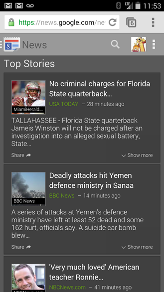 Google News Mobile Site Set To Receive A Fresh New Look Over The Next Few Days