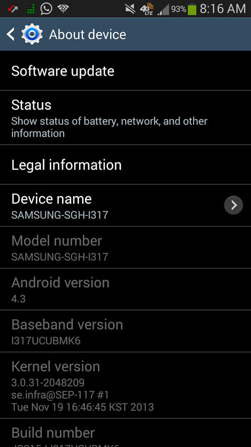 T-Mobile's Galaxy Note II Finally Gets Its Android 4.3 And ...