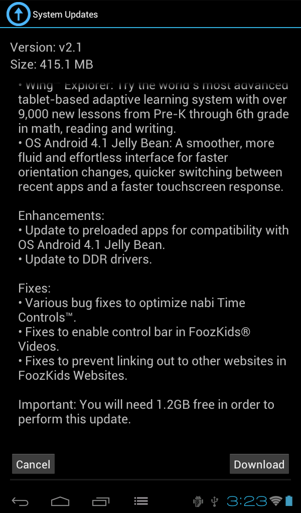 Fuhu's Nabi 2 Finally Getting Android 4 1 And Google Play