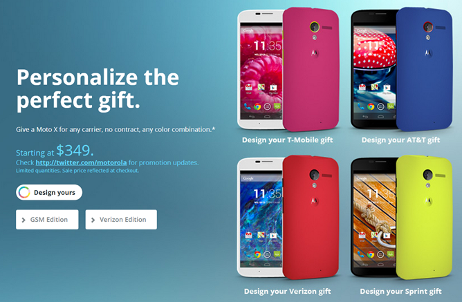 Motorola Will Offer $150 Discounts For Any Off-Contract Moto X Bought On Cyber Monday, Includes Moto Maker And Developer Editions, As Low As $349 [Update: Live!]