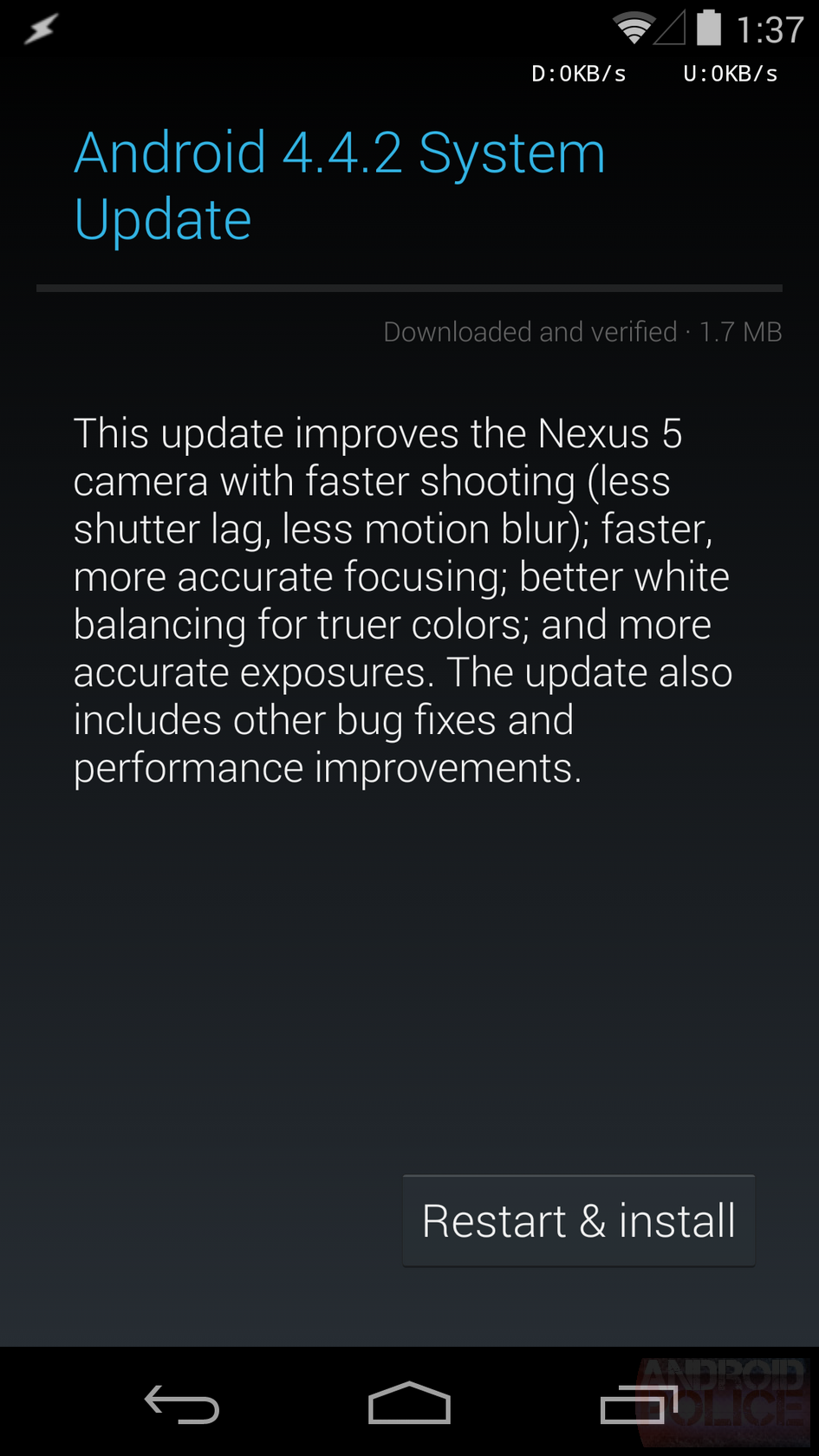 Android 4.4.2 (KOT49H) Is Already Rolling Out To All Nexus Devices - Here Are The OTA ZIP Links For Manual Updating