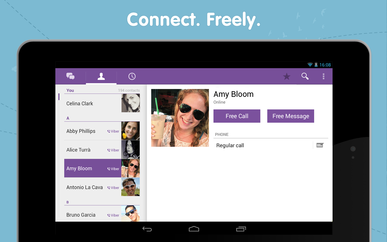 Viber Hits v4 2 With Number Blocking, Native Contact List