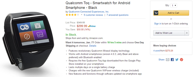 2014-01-06 03_39_49-Amazon.com_ Qualcomm Toq - Smartwatch for Android Smartphone - Black_ Cell Phone