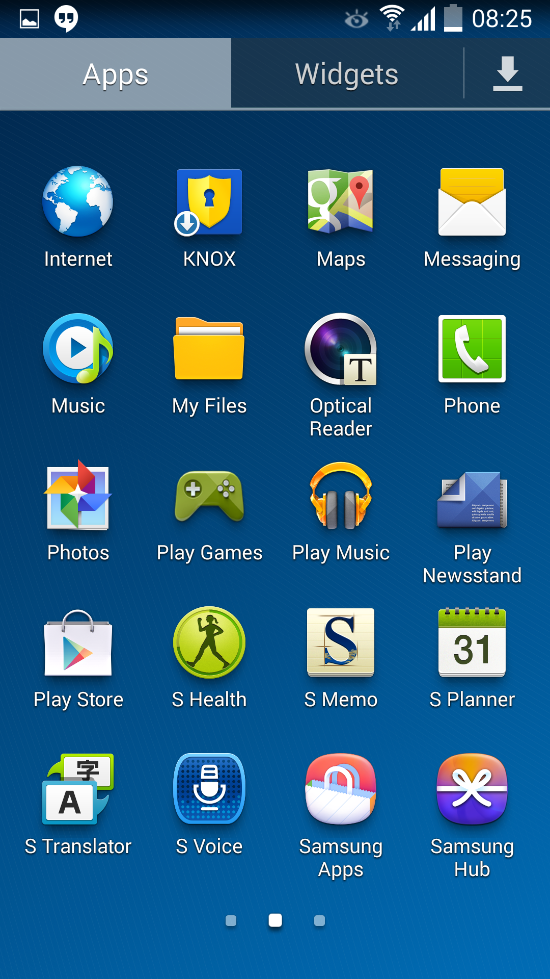 Samsung S4 Status Bar Icons for Android