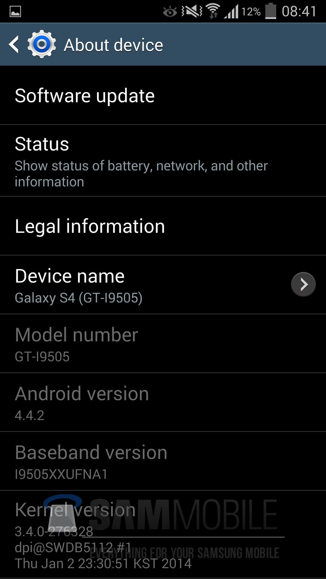 Leaked Android 4.4 Build For The Galaxy S4 Shows White Icons In The
