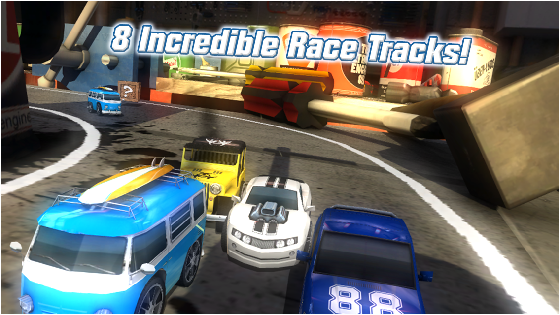 Table Top Racing for Android, The Game of Racing of Cars from Toy's Creator of WipEout