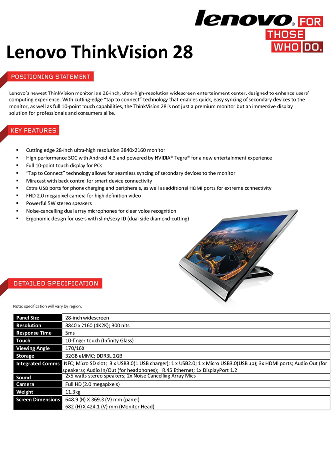 ThinkVision Spec Sheets_Page_1