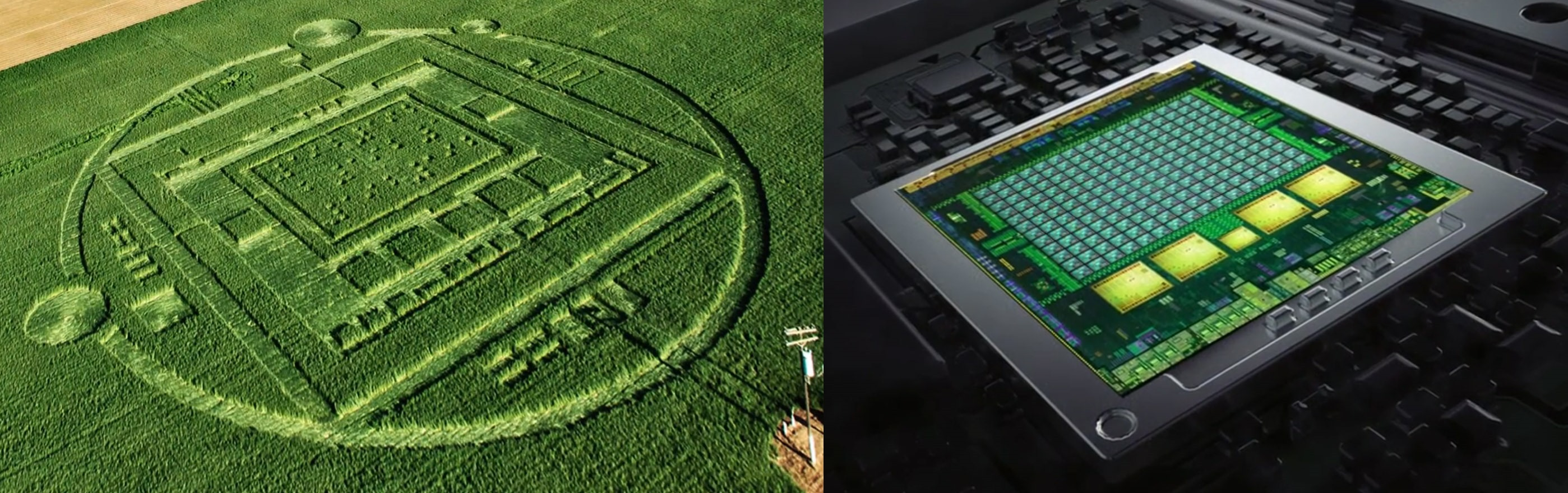 The crop circle roughly mirrors the actual layout of the tegra k1 chip
