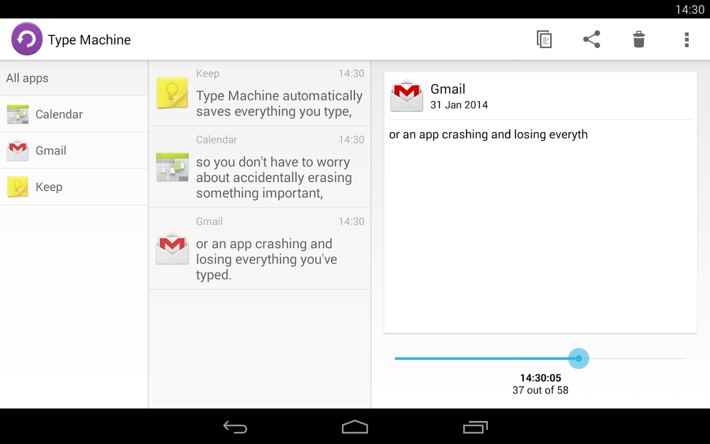 [New App] Type Machine Securely Saves Everything You Type So You'll Never Lose Text Again