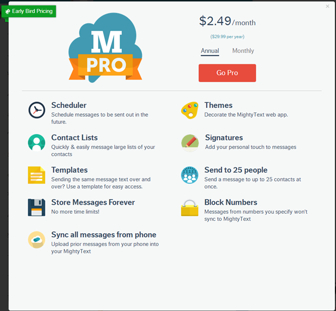 Mightytext Announces A Pro Offering Brings Themes A