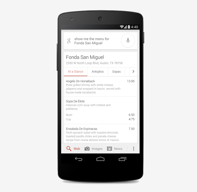 Google Searches Now Display Interactive Restaurant Menus Within Search Results In The US