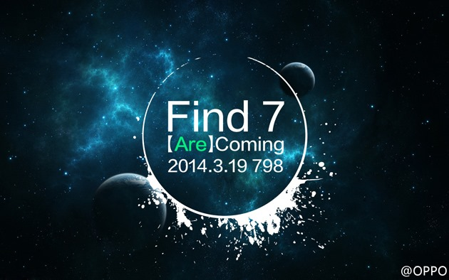 Oppo Schedules Find 7 Announcement For March 19th, 1080p And 2K