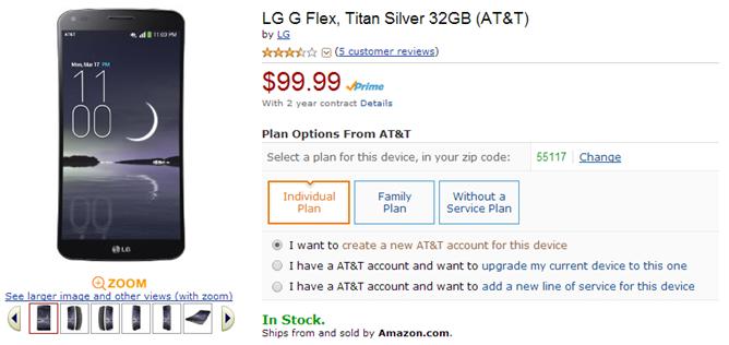 2014-03-28 11_31_10-Amazon.com_ LG G Flex, Titan Silver 32GB (AT&T)_ Cell Phones & Accessories